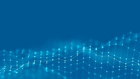 conceito da rede do fundo do sumário 3d Ilustração futura da tecnologia do fundo paisagem 3d Dados grandes Wireframe Fotos de Stock