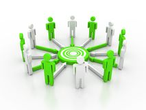 Conceito da rede do negócio Imagens de Stock