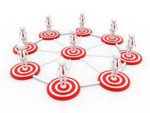 Conceito da rede do negócio 3d rendem Foto de Stock