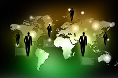 Conceito da rede do negócio global Imagens de Stock Royalty Free