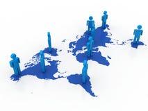 Conceito da rede do negócio global Imagens de Stock
