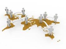 Conceito da rede do negócio global Fotos de Stock