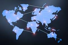 Conceito da rede global Imagens de Stock Royalty Free