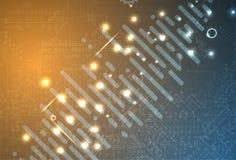 Conceito da rede neural Pilhas conectadas com relações Technol alto Imagem de Stock