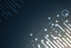 Conceito da rede neural Pilhas conectadas com relações Technol alto Foto de Stock Royalty Free