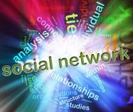 Conceito da rede social ilustração do vetor