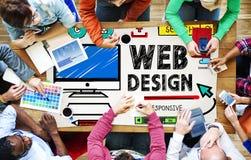 Conceito da relação das ideias do estilo do desenvolvimento do design web Imagens de Stock Royalty Free