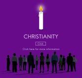 Conceito da religião de Jesus Christ Believe Faith God da cristandade Foto de Stock Royalty Free