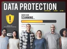Conceito da remoção de Malware do guarda-fogo da proteção do arquivo de dados  fotografia de stock royalty free