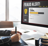 Conceito da remoção de Malware do guarda-fogo da proteção do arquivo de dados  foto de stock
