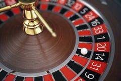 Conceito da rendição da roleta 3D do casino de Las Vegas Jogo da roleta do casino Conceito de jogo do casino ilustração stock
