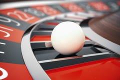 Conceito da rendição da roleta 3D do casino de Las Vegas Jogo da roleta do casino Conceito de jogo do casino ilustração do vetor