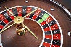 Conceito da rendição da roleta 3D do casino de Las Vegas Jogo da roleta do casino Conceito de jogo do casino ilustração royalty free