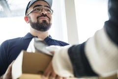 Conceito da renovação do serviço de entrega da mobília fotografia de stock royalty free