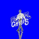 Conceito da retirada da economia do risco da crise financeira ilustração stock