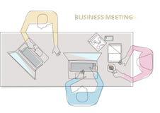 Conceito da reunião de negócio Fotos de Stock
