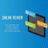 Conceito da revisão do cliente Feedback, reputação e conceito da qualidade Entregue apontar, dedo que aponta a uma avaliação de c ilustração royalty free