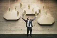 Conceito da riqueza feliz Fotografia de Stock Royalty Free