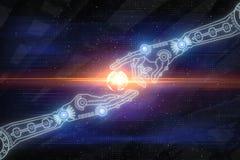 Conceito da robótica, do Cyberspace e da inovação imagens de stock royalty free