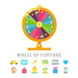 Conceito da roda da fortuna ilustração stock