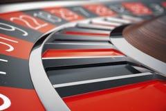 conceito da roleta do casino da rendição 3D Tabela de jogo no casino luxuoso Jogo da roleta do casino ilustração royalty free
