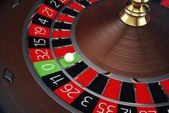 conceito da roleta do casino da rendição 3D Tabela de jogo no casino luxuoso Jogo da roleta do casino ilustração do vetor