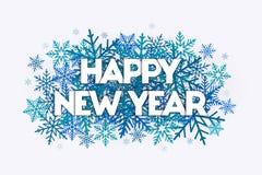 Conceito da rotulação do ano novo feliz ilustração do vetor