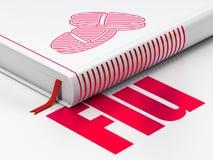 Conceito da saúde: comprimidos do livro, gripe no fundo branco ilustração do vetor