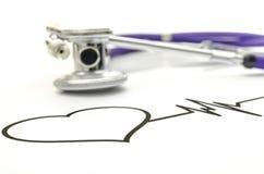 Conceito da saúde do coração Fotografia de Stock Royalty Free