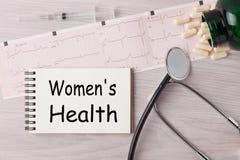 Conceito da saúde do ` s das mulheres fotografia de stock royalty free