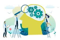 Conceito da saúde mental Ilustração Stock