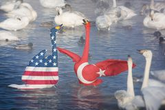 Conceito da sanção ou do conflito, Imagem de Stock