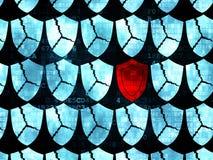 Conceito da segurança: ícone do protetor em Digitas Imagem de Stock