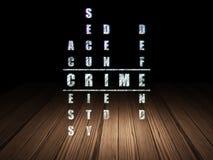 Conceito da segurança: crime da palavra em resolver palavras cruzadas Imagem de Stock Royalty Free