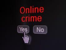 Conceito da segurança: Crime em linha no computador digital Imagem de Stock