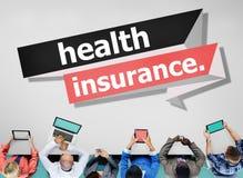 Conceito da segurança da avaliação de risco da proteção do seguro de saúde Imagens de Stock