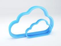 Conceito da segurança da nuvem branco Fotografia de Stock Royalty Free