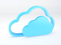Conceito da segurança da nuvem branco Fotos de Stock