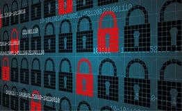 Conceito da segurança da tecnologia Fundo digital da segurança moderna ilustração royalty free