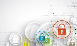 Conceito da segurança da tecnologia Fundo digital da segurança moderna Imagens de Stock