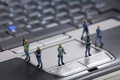 Conceito da segurança de computador Fotos de Stock