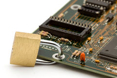 Conceito da segurança de computador fotografia de stock