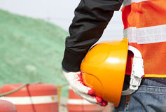 Conceito da segurança de construção Foto de Stock Royalty Free