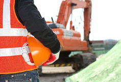 Conceito da segurança de construção Fotos de Stock Royalty Free
