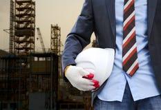 Conceito da segurança de construção Imagens de Stock Royalty Free
