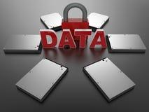 Conceito da segurança de dados de Digitas ilustração stock