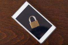 Conceito da segurança de Smartphone Fotos de Stock Royalty Free