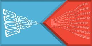Conceito da segurança de uma comunicação e do Internet ilustração stock