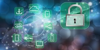 Conceito da segurança digital ilustração royalty free