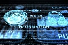 Conceito da segurança do Cyberspace ilustração do vetor